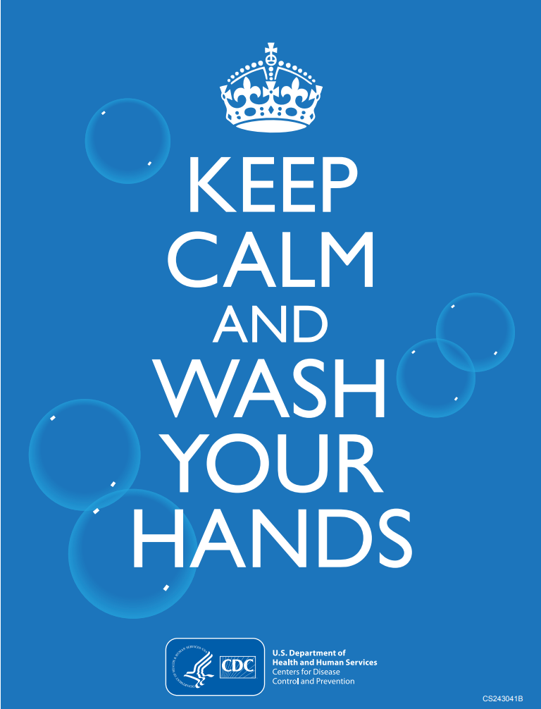 Keep Calm and Wash Your Hands graphic.